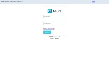 Asure Time & Attendance Version 12.4 - User Login