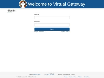 Virtual Gateway: Executive Office of Health and Human Services