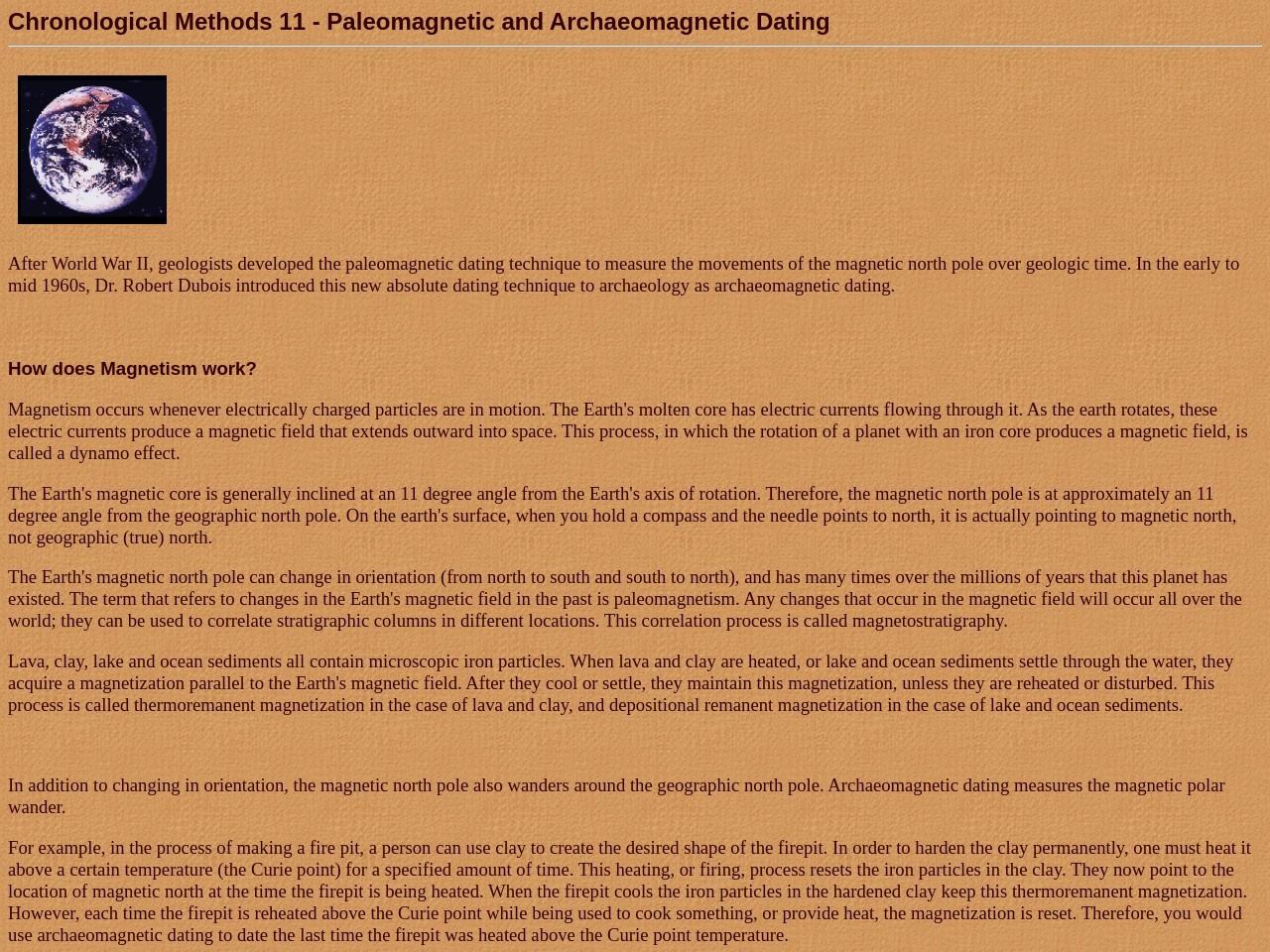 Paleomagnetism dating methodology