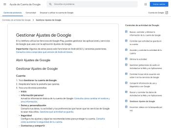 Gestionar Ajustes de Google - Ayuda de Cuenta de Google