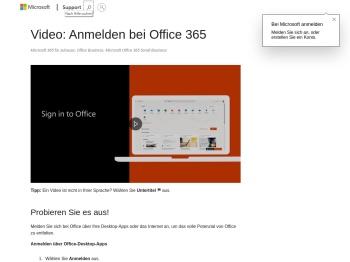 Video: Anmelden bei Office 365 - Office 365 - Microsoft Support