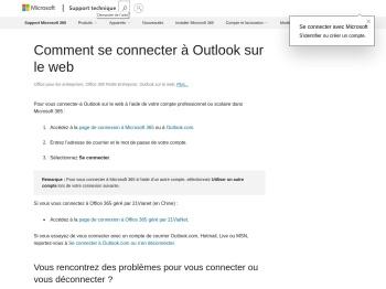 Comment se connecter à Outlook sur le web - Support Office