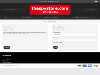 Account Login - the spy store inc