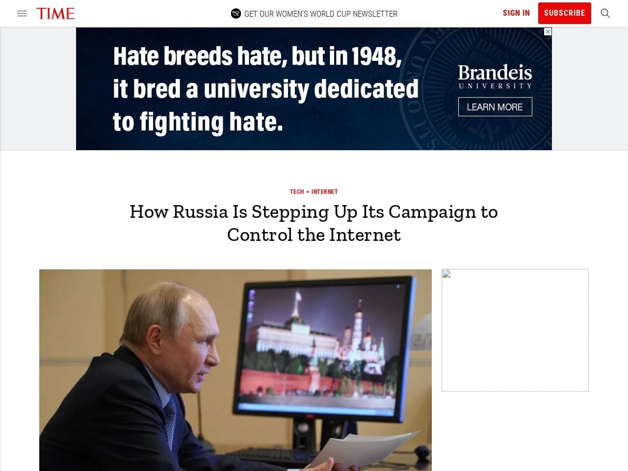 Copyright Russian Internet