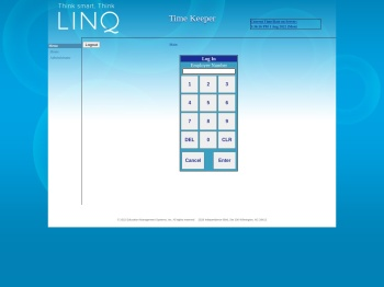 LINQ Time Keeper - A Module of the LINQ Payroll system.