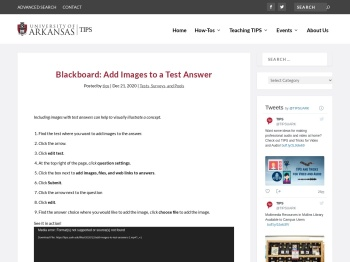 Blackboard: Add Images to a Test Answer - Teaching ...