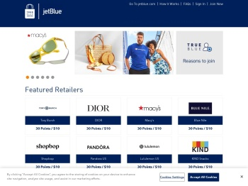 TrueBlue Shopping : Shop online and earn points ... - JetBlue