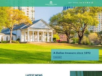 screenshot of Turtle Creek Park's homepage