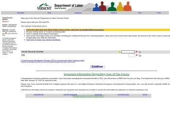 UI Claimant Portal - To File Your Weekly Claim - Vermont.gov