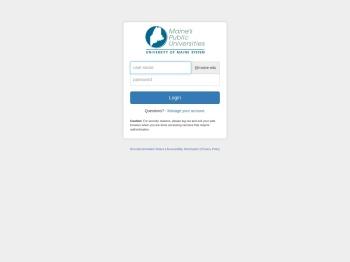 My UMaine Portal - The University of Maine