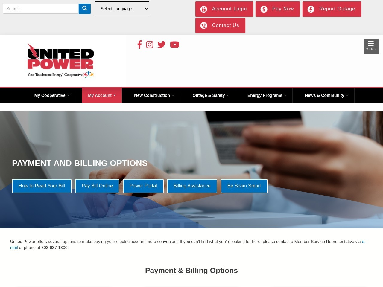 Payment and Billing Options | United Power