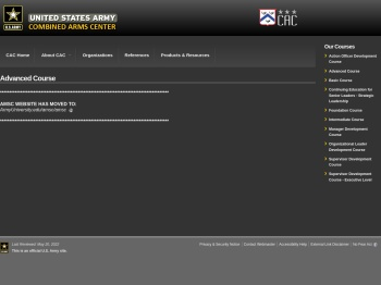 Advanced Course   US Army Combined Arms Center