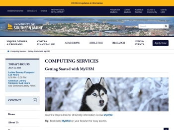 MyUSM Campus Portal - University of Southern Maine