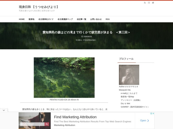 愛知県民の森はどの滝まで行くかで疲労度が決まる <第三回>