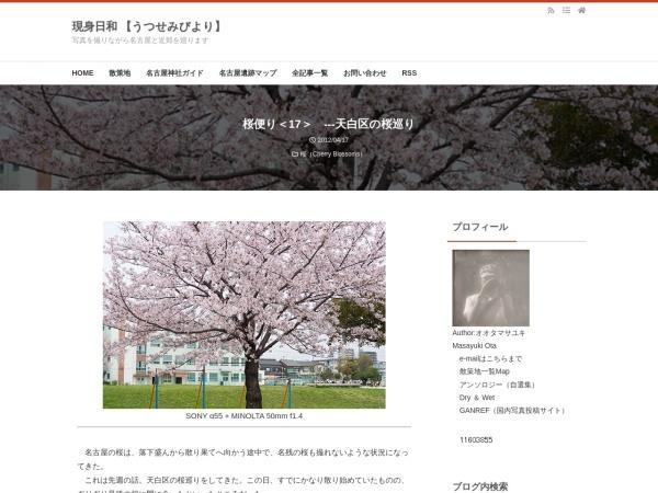 桜便り<17> ---天白区の桜巡り
