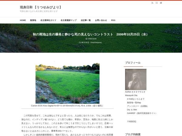 秋の雨池は生の爆発と静かな死の見えないコントラスト 2006年10月25日(水)