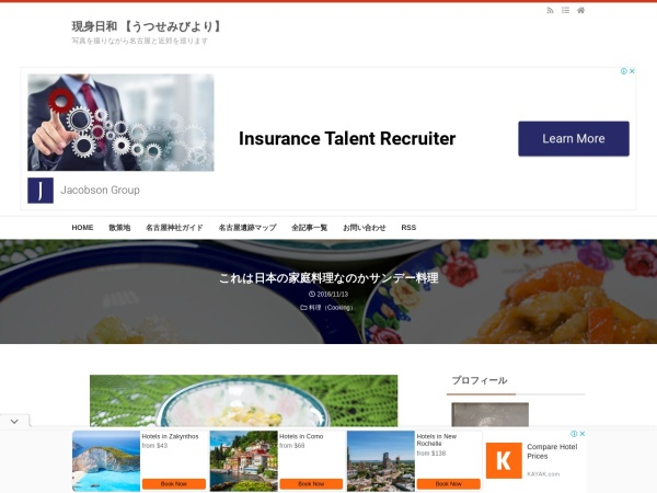 これは日本の家庭料理なのかサンデー料理