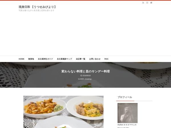 変わらない料理と皿のサンデー料理