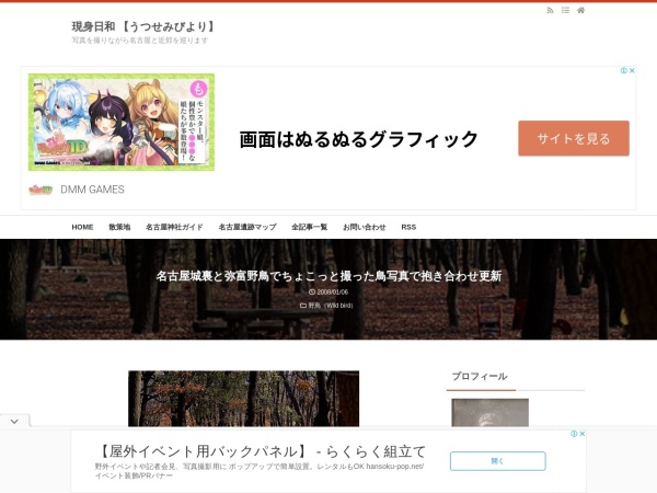 名古屋城裏と弥富野鳥でちょこっと撮った鳥写真で抱き合わせ更新