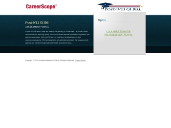 CareerScope Assessment Portal