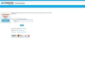 Comdata Cardholder Services - Login - iConnectData
