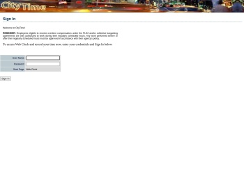 Nyc Citytime Citytime Login Page