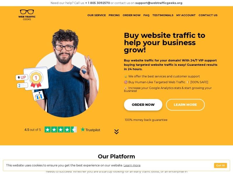 WebTrafficGeeks.org: Buy Website Traffic ⇒ Targeted ..