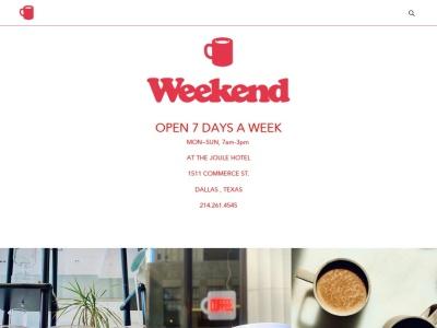 screenshot of Weekend Coffee's homepage