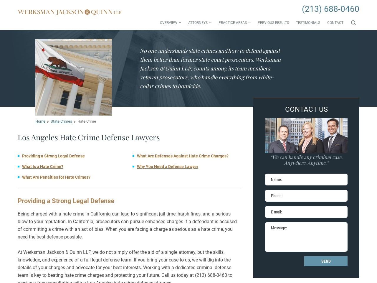 Hate crime attorneys