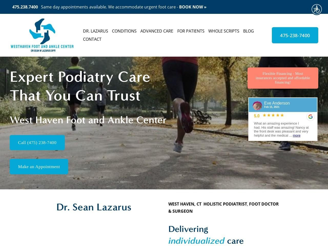 screenshot of Florida Surgical Specialists website