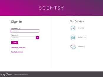 Sign in - Scentsy Dashboard