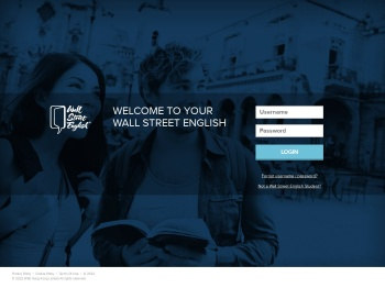Wall Street English: Log in to the Student & Staff Portal