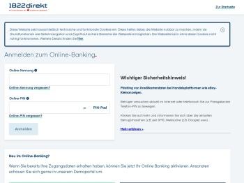 1822direkt: Online Banking Login