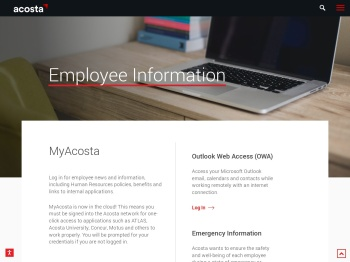 Employee Information - Acosta