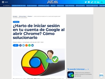 Cómo iniciar sesión en tu cuenta de Google al abrir Chrome automáticamente - ADSLZone