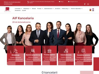 AIF Kancelaria Prawna: Odszkodowanie & Windykacja należności