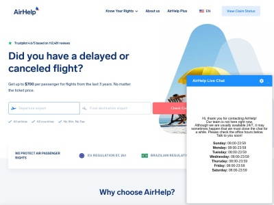 Get Compensation for Flight Delays of up to $700 | AirHelp