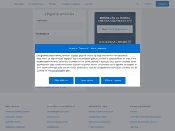 Inloggen op uw account   American Express Nederland