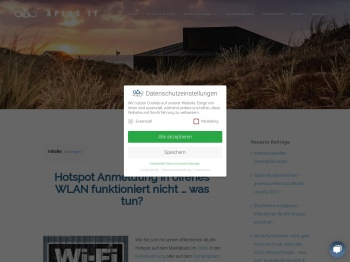 Hotspot Anmeldung in offenes WLAN funktioniert nicht … was ...