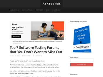 Top 7 Software Testing Forums that You Don't Want to Miss ...