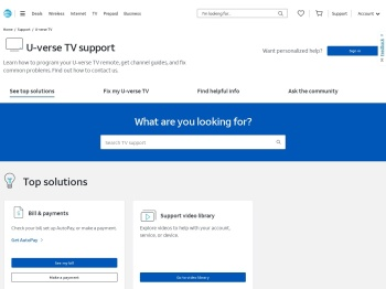 U-verse TV Support & Contact Info - AT&T Official Site