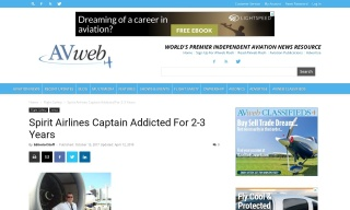 Spirit Airlines Captain Addicted for 2-3 Years