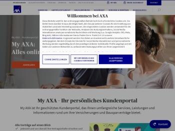 My AXA: Im Kundenportal registrieren und anmelden