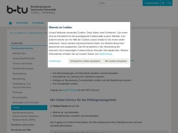 Online-Portale - BTU Cottbus-Senftenberg