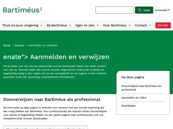 Aanmelden bij Bartiméus | Bartiméus, voor mensen die ...