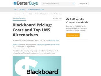 Blackboard Pricing: Costs and Top LMS Alternatives - Better ...