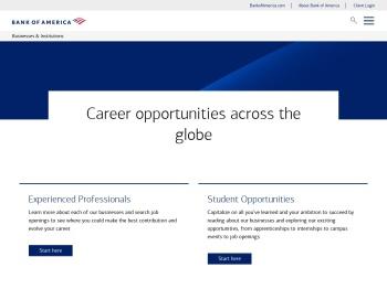 Bank of America Merrill Lynch Career Opportunities