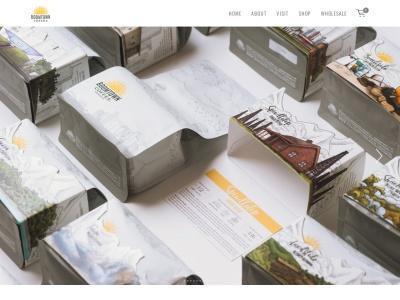 screenshot of Boomtown Coffee's homepage