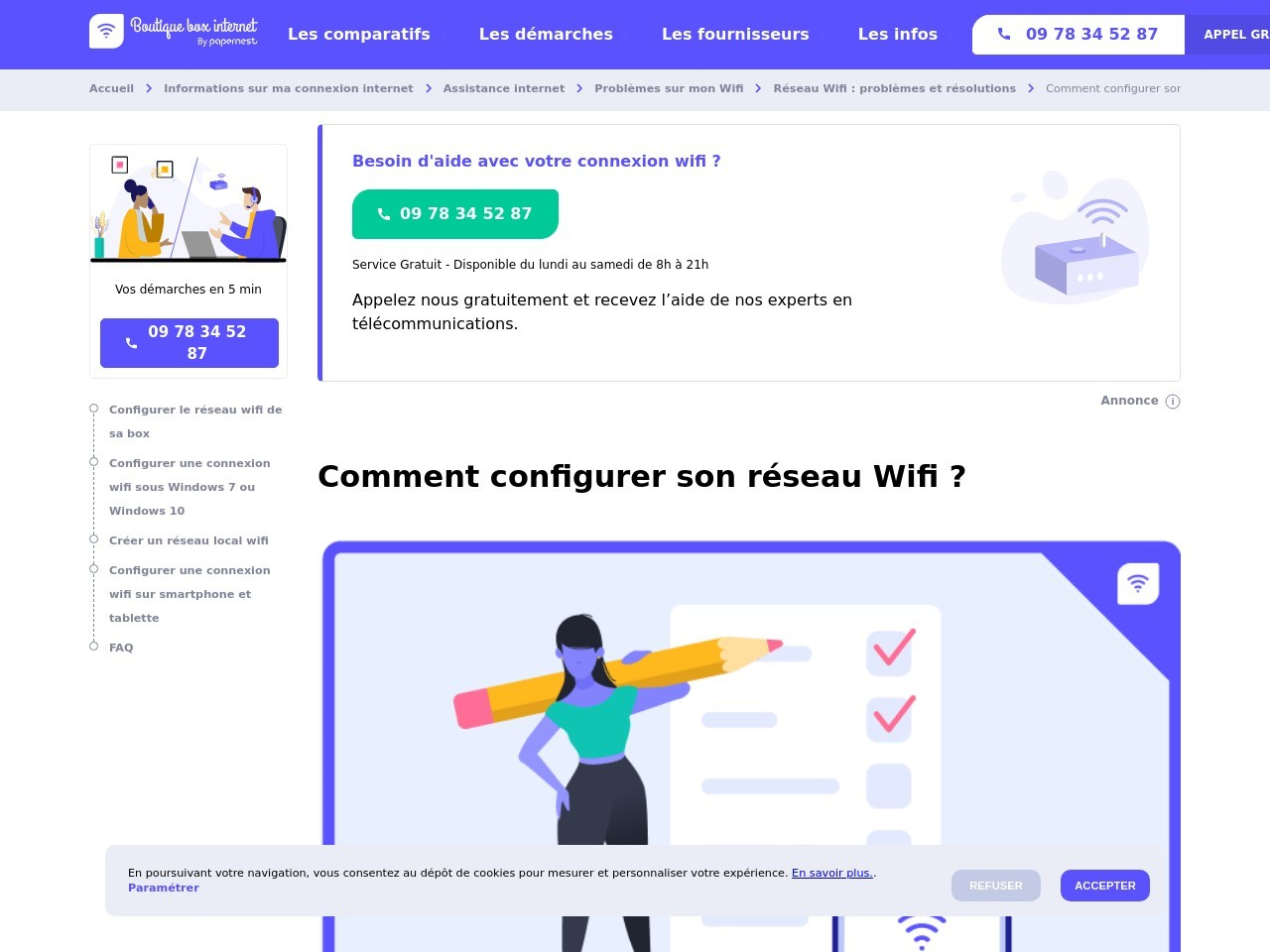 Configurer le Wifi : installer et connecter votre réseau internet