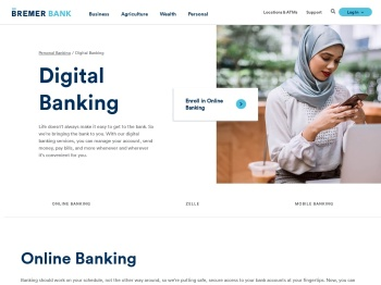 Online Banking   Bringing the Bank to You   Bremer Bank